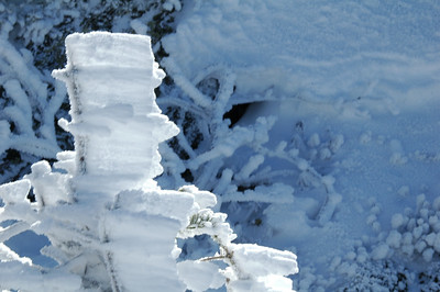 In places there were up to three inches of rime left on the surfaces.