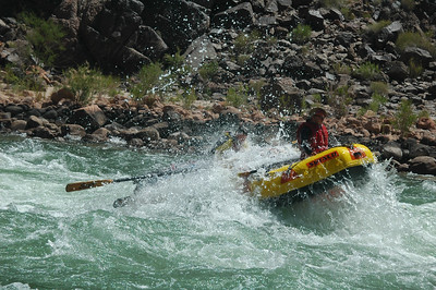 Granite Rapid: Whitewater rafting down the Colorado River through the Grand Canyon - 225 miles, 18 days, 16 men, 14 swimmers, 8 rafts, 4 flips. Starting at Lees Ferry, AZ to Diamond Creek Take Out, AZ.