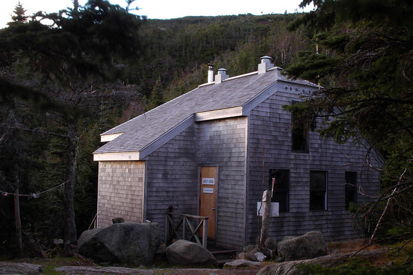 And there it is: Gray Knob Cabin. Tucked in just below tree line on the north side of Mt. Adams in New Hampshire. At 4,370' it is the highest year-round residence in the northeast.