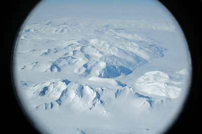 ANTARCTICA: Our first view of the Antarctic as we fly in from New Zealand.