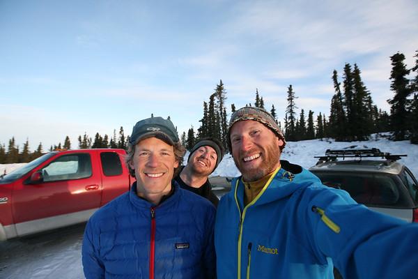WHITE MOUNTAINS, AK - Post trip pose. Nathaniel, Joe and Cameron.