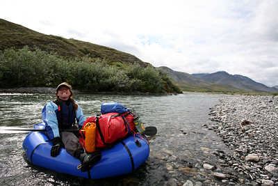 KONGAKUT RIVER, AK - Lindsay is happy to be on the river.